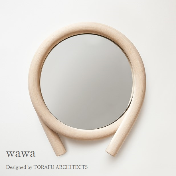 TORAFU ARCHITECTS wawa natural made in japan トラフ建築設計事務所 ウォールミラー 鏡 籐製フレーム ナチュラル グッドデザイン賞 ツルヤ商店 メトロクス 2016 GOOD DESIGN