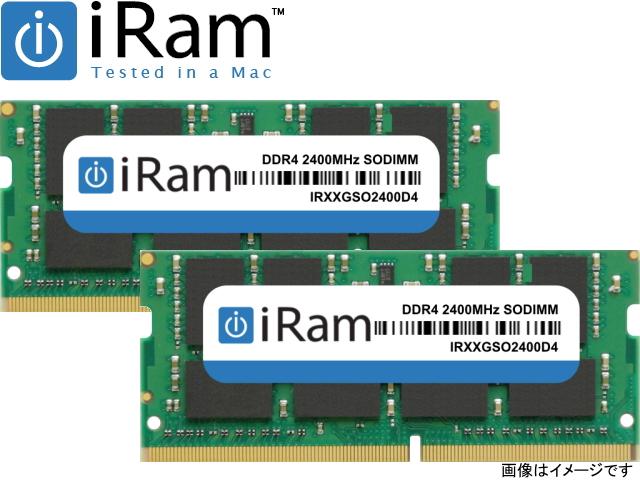 iRam Technology Mac用 SO-DIMM DDR4 2400MHz 32GB(2x16GB) Apple専用増設メモリ