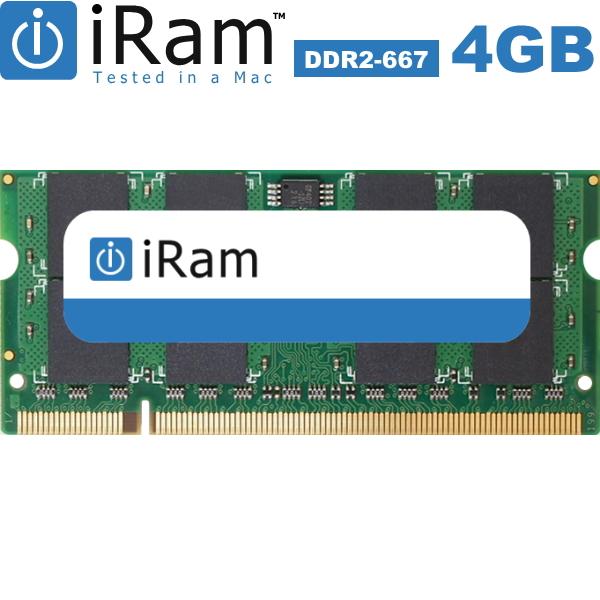 [iRam] 4GB DDR2-667MHz SODIMM IR4GSO667D2【Mac専用増設メモリ】