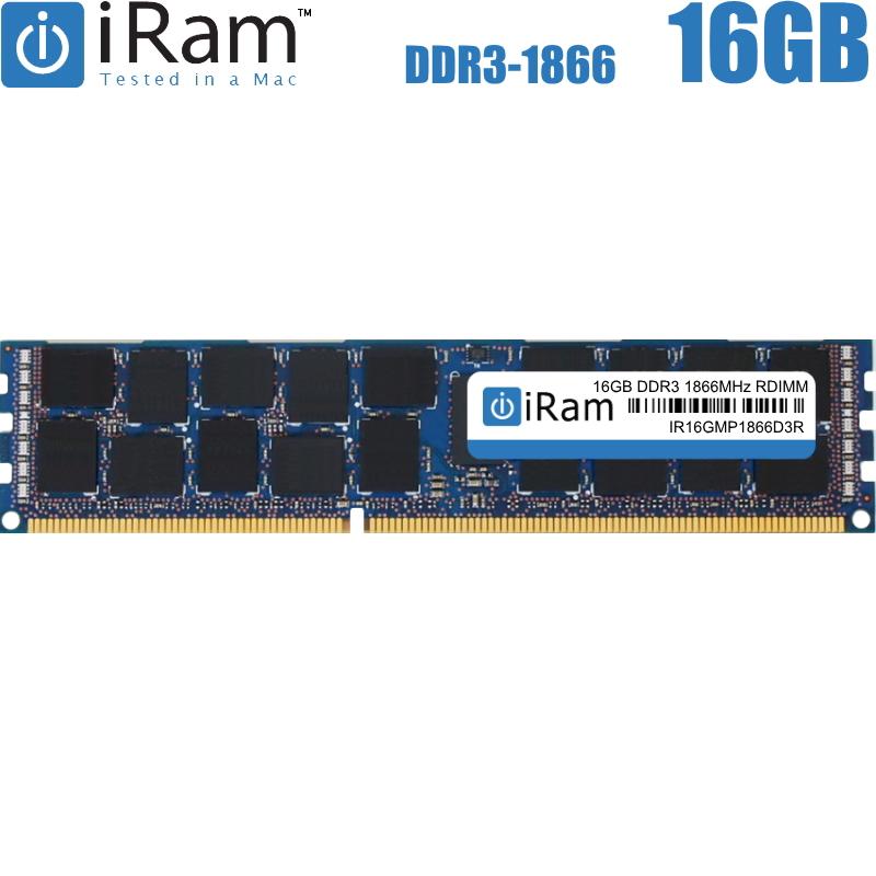 【他容量混在出来ません】iRam Technology Mac用 ECC R-DIMM DDR3 1866MHz 16GB Apple専用増設メモリ for MacPro2013