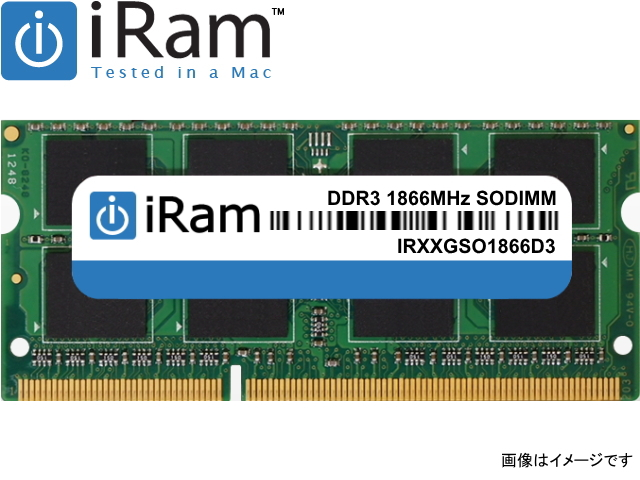 iRam Technology Mac用 SO-DIMM DDR3 1866MHz 8GB Apple専用増設メモリ