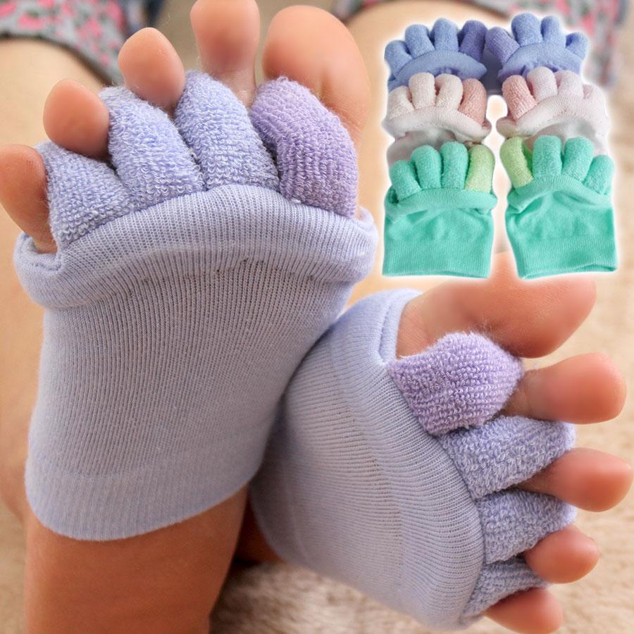 購買 指の間のパイル地でやさしく足指を開きます綿混5本指ハーフソックス 送料無料 スーパーSALE最大70%OFF やわらか綿混足指開きハーフソックス むくみケアにぴったり 履くだけで癒される 靴下 足のむくみ解消 くつした くつ下 5本指 フィットネス用品 足指 外反母趾 レディース 広げる ピラティス ホットヨガ ヨガソックス 上品 五本指