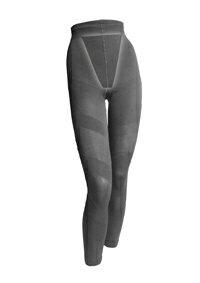 下半身をかたちよく、細く美脚に!! 期間限定ポイント10倍(1/9 20時-1/16 2時)【むくみ解消】Re・aesfou<リエスファ>スパイラル美脚タイツ・黒色(プリント有)(XLサイズ ヒップx102~110cm)