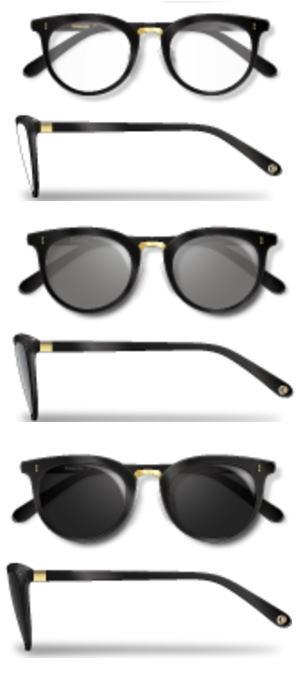 Re・aesfou<リエスファ>天然石配合フレーム眼鏡COLLECTION-B-クロレンズ色<クリア・グレー・ブラック>眼鏡ケース付き(3色よりお選びください)