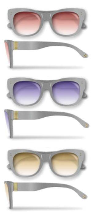 Re・aesfou<リエスファ>天然石配合フレーム眼鏡COLLECTION-C-グレーレンズ色<クリア・レッド・ブルー・イエロー>眼鏡ケース付き(3色よりお選びください)