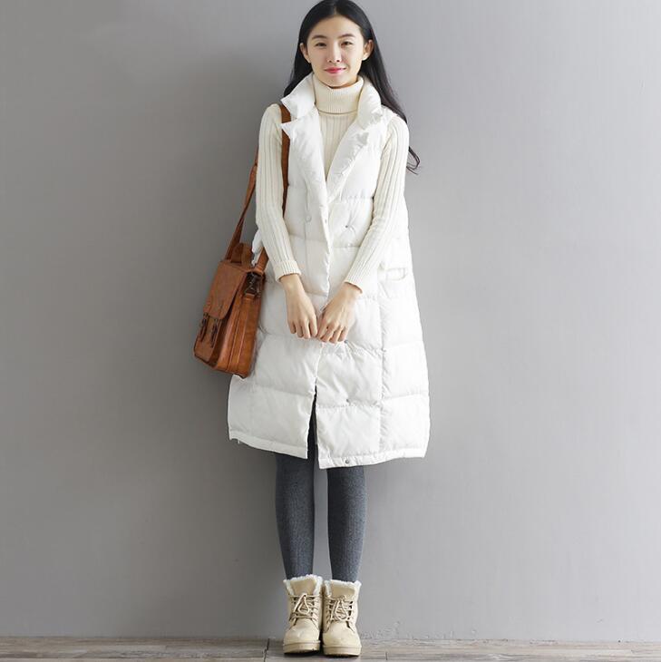【IRIS】ダウンベスト レディース ダウンジャケット 冬コート 防寒 レディース ミディアム丈 カジュアル 日常 学生 可愛い 大きいサイズ 2色