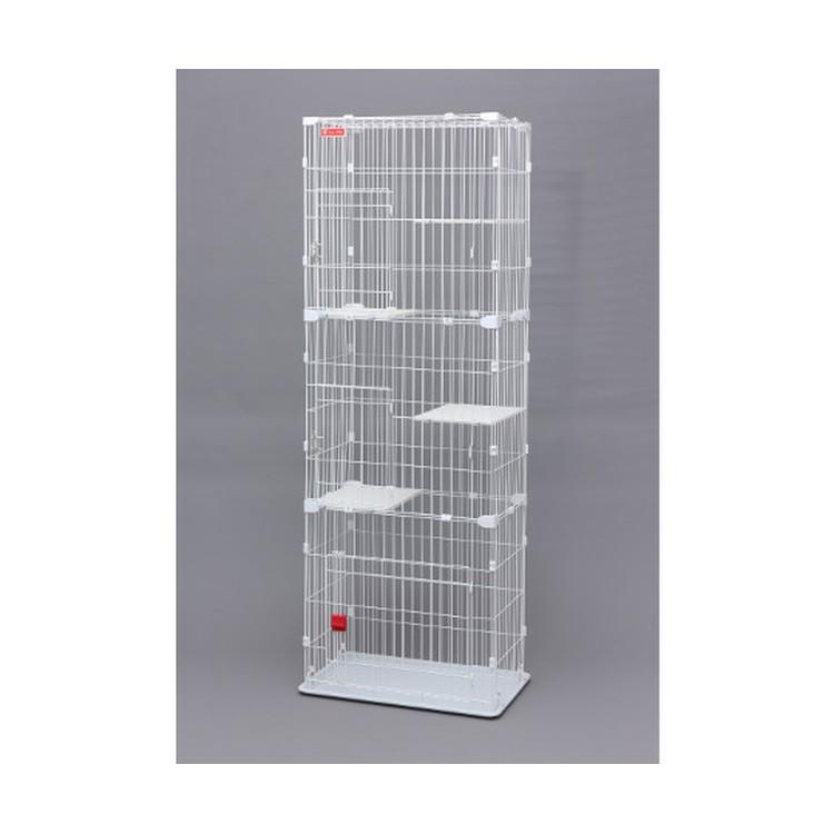 100%品質保証! ペット セール商品 ゲージ 猫 スリムキャットケージ3段 ホワイト PSCC-753 アイリスオーヤマ