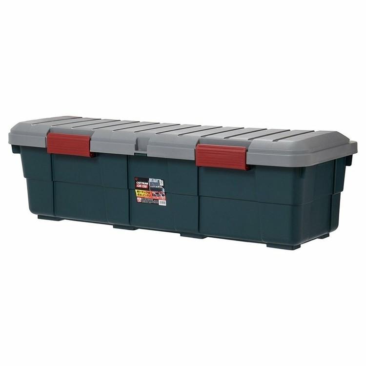 収納 ボックス 収納ボックス 工具箱 フタ付き アイリスオーヤマ 車 カートランク CK-130 鍵穴 幅130×奥行45×高さ39