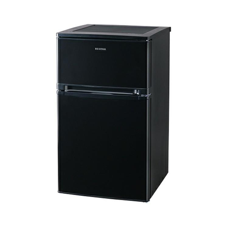 ノンフロン冷凍冷蔵庫 2ドア 81L ブラック NRSD-8A-B 送料無料 冷蔵庫 れいぞうこ 料理 調理 一人暮らし 独り暮らし 1人暮らし 家電 食糧 冷蔵 保存 食糧 白物 単身 れいぞう コンパクト キッチン 台所 寝室 アイリスオーヤマ