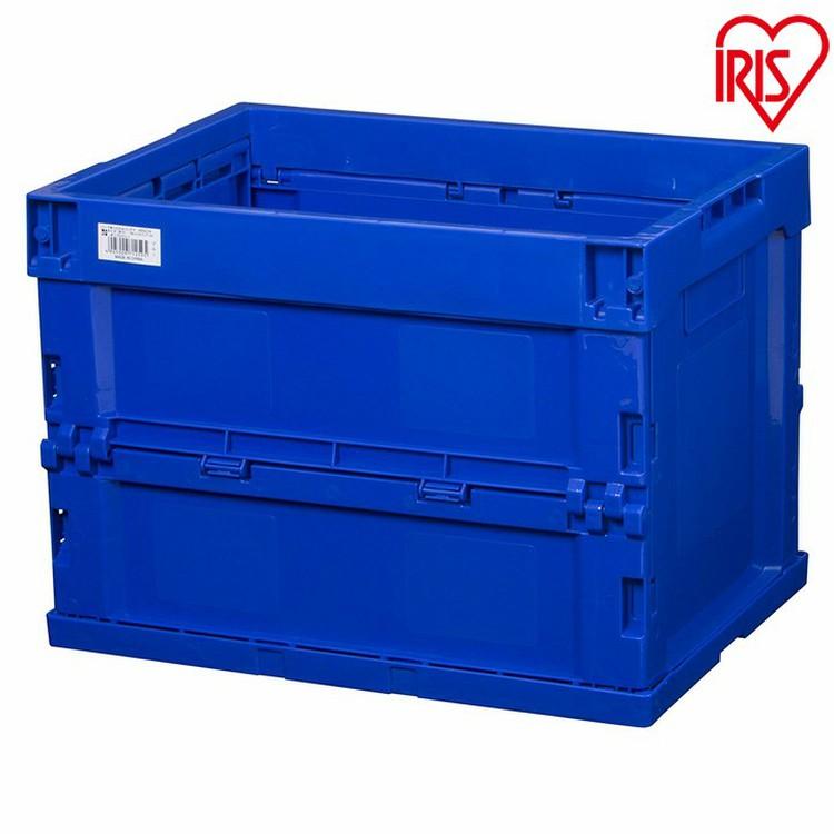 限定タイムセール ハード折りたたみコンテナ メーカー在庫限り品 20L HDOC-20L ブルー クリア 収納ケース ボックス アイリスオーヤマ ダークブルー