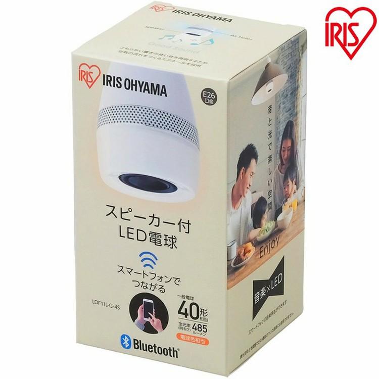 ★あす楽対応★スピーカー付LED電球 E26 40形相当 電球色 LDF11L-G-4S アイリスオーヤマ