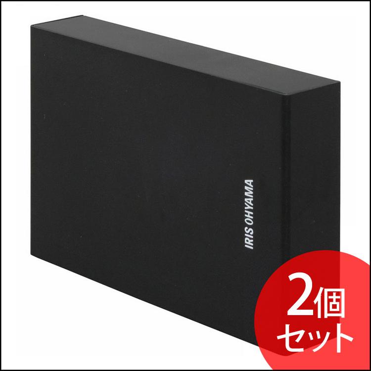 【2個セット】テレビ録画用 外付けハードディスク 4TB HD-IR4-V1 ブラック ハードディスク HDD 外付け テレビ 録画用 録画 縦置き 横置き 静音 コンパクト シンプル LUCA ルカ レコーダー USB 連動 アイリスオーヤマ