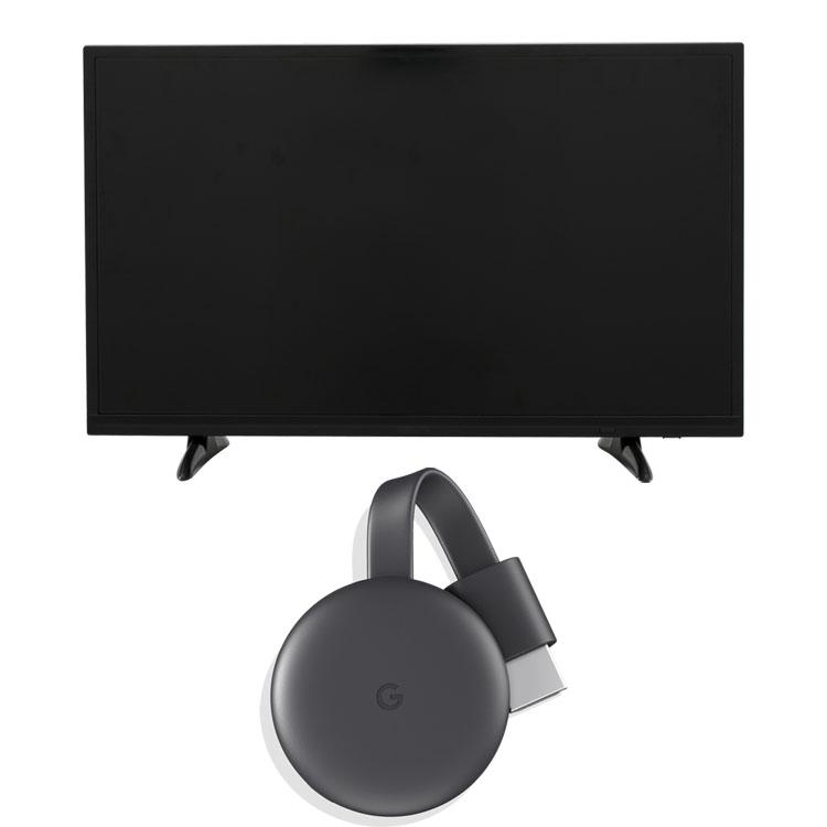 Google Chromecast GA00439-JP +LUCA ハイビジョンテレビ 32インチ LT-32A320 ブラック クロームキャスト グーグル デバイス スマートフォン スマホ テレビ 液晶テレビ ハイビジョン 液晶 デジタル ルカ 地デジ BS CS アイリスオーヤマ[iriscoupon]