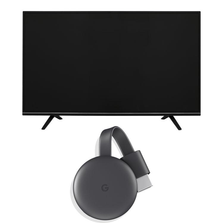 Google Chromecast GA00439-JP +LUCA 4K対応テレビ 49インチ LT-49A620 ブラック クロームキャスト グーグル デバイス スマートフォン スマホ テレビ 液晶テレビ ハイビジョン 液晶 デジタル ルカ 4K 4K対応 地デジ BS CS アイリスオーヤマ[cpir][iris60th]