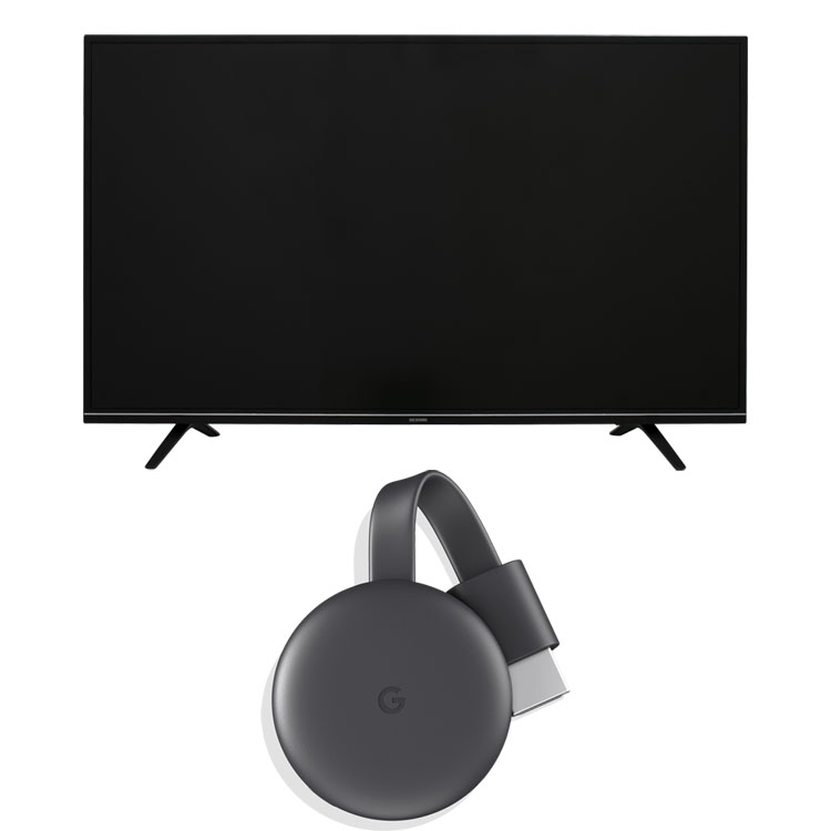 Google Chromecast GA00439-JP +LUCA 4K対応テレビ 55インチ LT-55A620 ブラック クロームキャスト グーグル デバイス スマートフォン スマホ テレビ 液晶テレビ ハイビジョン 液晶 デジタル ルカ 4K 4K対応 地デジ BS CS アイリスオーヤマ[iriscoupon]