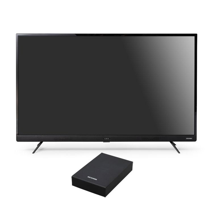 4Kテレビ フロントスピーカー 43型 外付けHDDセット品 送料無料 テレビ HDD セット TV 4K フロントスピーカー 43型 外付け ハードディスク アイリスオーヤマ