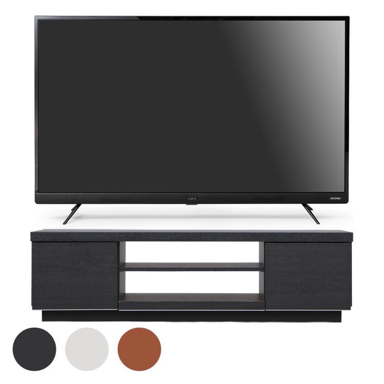 4Kテレビ フロントスピーカー 43型 テレビ台 BAB100 送料無料 テレビ テレビ台 セット TV 4K 43V 43型 黒 引き出し アイリスオーヤマ