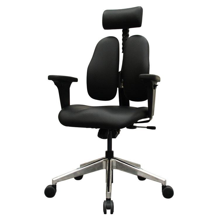 DUOREST ブラック DR-7550GD_SBK2送料無料 オフィスチェア 背面2分割 デュオレスト 学習チェア 調整可 スタイリッシュ 椅子 ヘッドレスト アーム ドリームウェア 【D】【B】