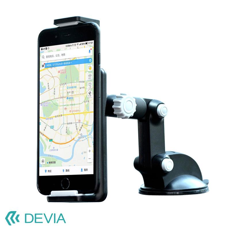 安定感のあるサクションカップスタンド ナビ 音楽 レンタカーにも 車載スマホホルダー スマートフォン iPhone 多機種対応 関節3つで自由自在 年間定番 T1 mount Devia holder 吸盤 ふるさと割 Car ドライブ 旅行