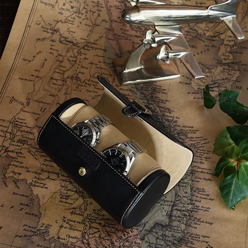 クーポン発行中 【小物入れ レザートレー】 小物入れ 書斎 ストゥディオーロ ウォッチケース 2本用 腕時計 コレクション ディスプレイ 240-447【レザーケース 小物入れ】【インテリア 腕時計ケース 腕時計置き 父の日】