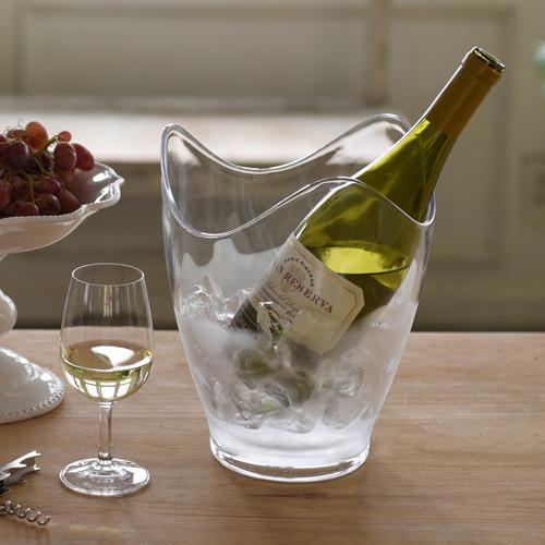 【WineAccessoryCollection】ワインクーラークリア【20P01Oct16】【HLS_DU/ギフト】【ワインクーラー/シャンパンクーラー/ボトルクーラー/保冷/保冷剤/冷やす/1本用/ワイングッズ/ホームパーティー】