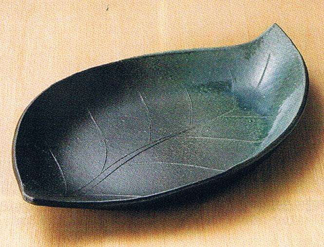 ビードロ14.2葉形皿陶器 信楽焼 キッチン 和食器 大皿 彩り屋