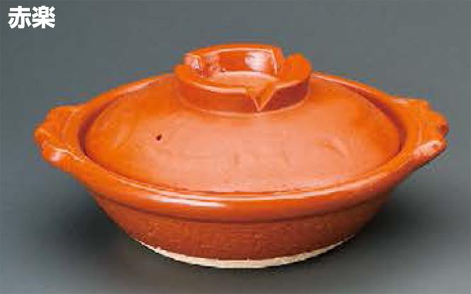 赤楽 7号鍋信楽焼 陶器 キッチン 調理器具 土鍋 料亭 旅館 和食器 飲食店 業務用彩り屋