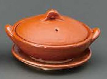 4号赤楽 浅鍋 (受皿付)信楽焼 陶器 キッチン 調理器具 土鍋 1人用 一人鍋 料亭 旅館 和食器 飲食店 業務用彩り屋