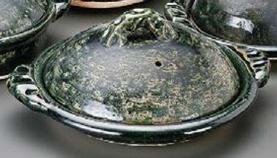織部11.0陶板信楽焼 陶器 キッチン 調理器具 土鍋 料亭 旅館 和食器 飲食店 業務用 彩り屋