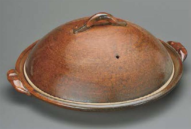 12号陶板(蓋付)信楽焼 陶器 キッチン 調理器具 土鍋 料亭 旅館 和食器 飲食店 業務用 彩り屋