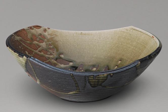 古信楽 変形手洗鉢 (器具付)信楽焼 陶器 手洗鉢 ガーデンパン 洗面ボウル彩り屋