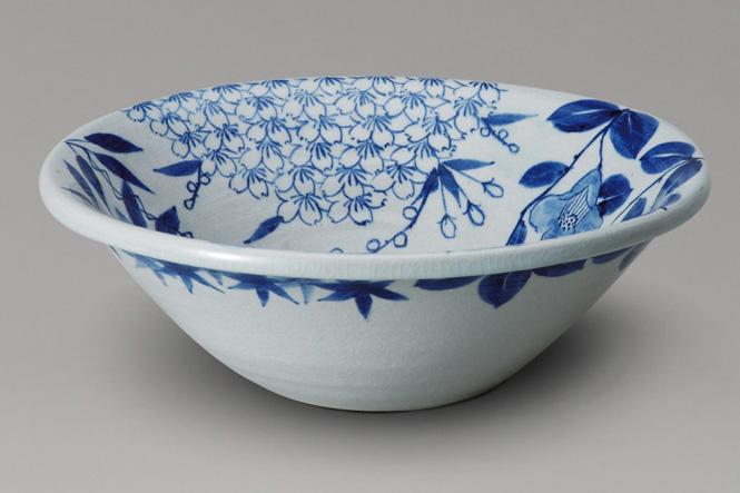 四季彩手洗鉢 (器具付)信楽焼 陶器 手洗鉢 ガーデンパン 洗面ボウル彩り屋