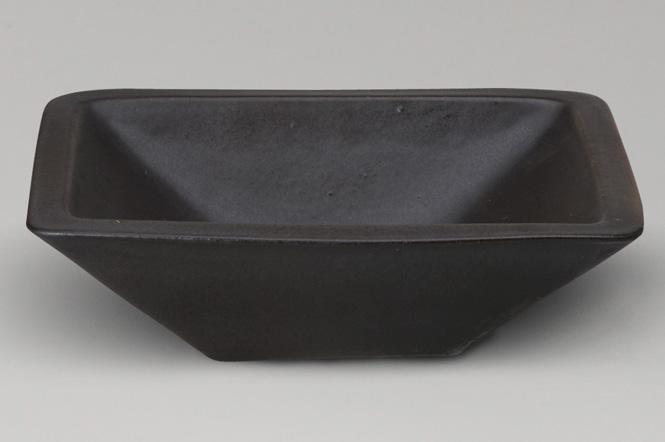 激安商品 手洗鉢 黒マット長角手洗鉢 (器具付)信楽焼 ガーデンパン 陶器 洗面ボウル彩り屋:彩り屋-木材・建築資材・設備