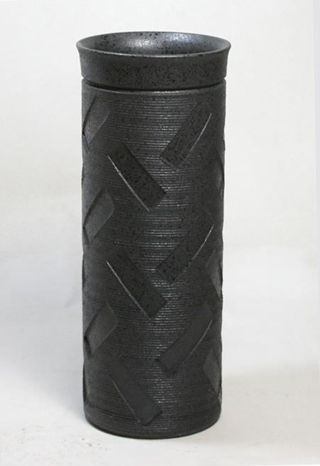 傘立て 陶器 信楽焼 レクタングル 傘立 スリム