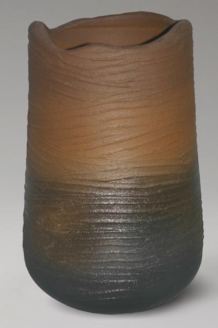 傘立て 陶器 信楽焼 灰釉コゲひねり 傘立