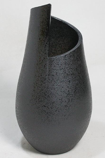 15号 黒スパイラル 花入 信楽焼 陶器 花入れ 花器 花入 花瓶彩り屋