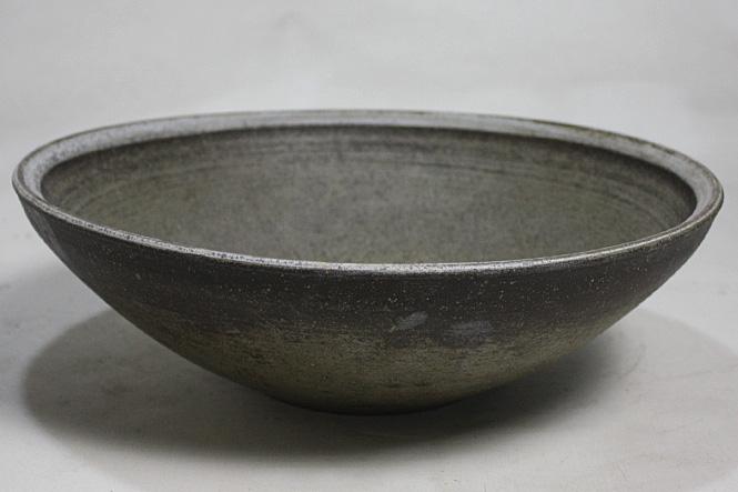 いぶし窯変手洗鉢(器具付)信楽焼 陶器 手洗鉢 ガーデンパン 洗面ボウル 彩り屋