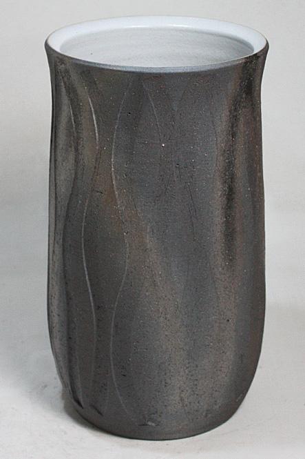傘立て 陶器 信楽焼 黒いぶしゆらぎ 傘立