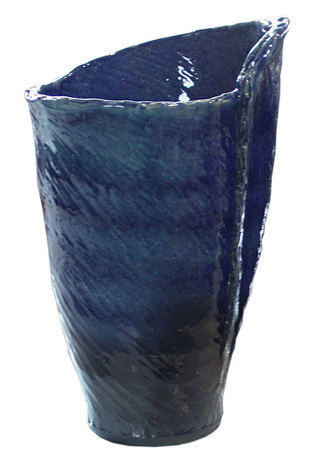 傘立て 陶器 信楽焼 青ガラスひねり 傘立