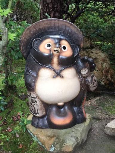 福ひねり狸 古信楽 風30号信楽焼 陶器 置物 たぬき彩り屋