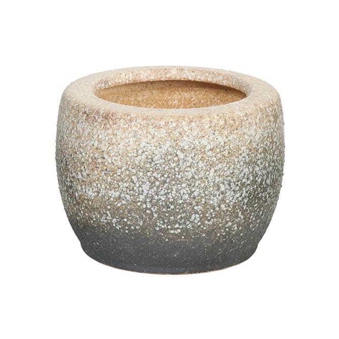 白砂火鉢 10号信楽焼 伝統の火鉢 白砂 陶器彩り屋