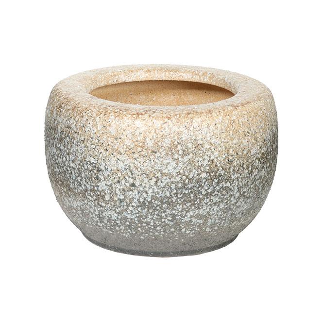 白砂火鉢 15号信楽焼 伝統の火鉢 白砂 陶器 彩り屋