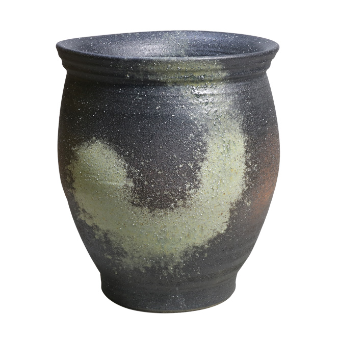 傘立て 陶器 信楽焼 窯変壺型 傘立