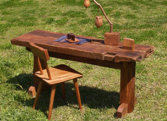 送料無料 古材テーブル 椎の木ダイニングテーブル彩り屋_