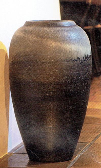 古窯 大壷 (自然灰釉) 信楽焼 陶器 花入れ 花器 花入 花瓶彩り屋