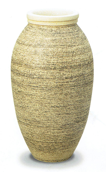 ファラオ (白砂釉) 信楽焼 陶器 花入れ 花器 花入 花瓶彩り屋