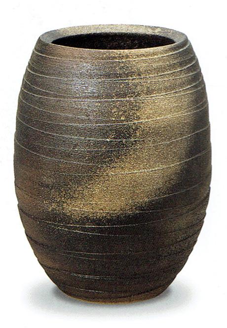金彩壷 金彩釉 信楽焼 陶器 花器 花瓶彩り屋 花入 花入れ 贈物 今だけスーパーセール限定