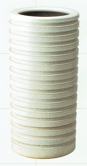 傘立て 陶器 信楽焼 千段 白 (S) (チタンマット釉) スリム 業務用にも