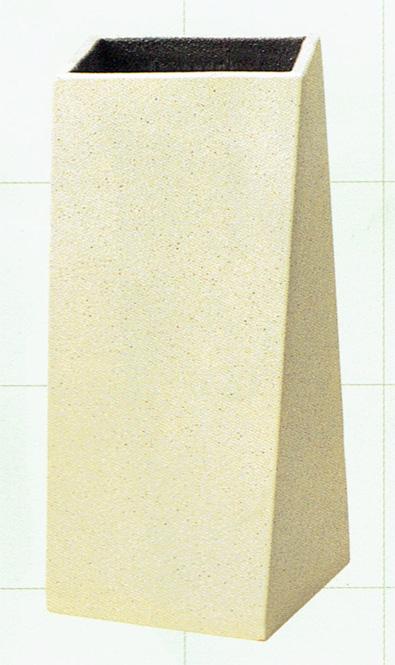 傘立て 陶器 信楽焼 ツイスト ホワイト (白砂釉)