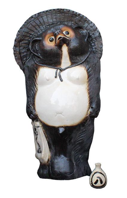 並狸 40号 信楽焼 たぬき 陶器 狸 置物 タヌキ彩り屋